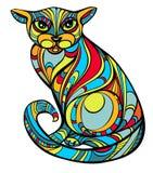 Απίθανη γάτα διανυσματική απεικόνιση