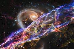 Απίστευτα όμορφος γαλαξίας κάπου στο βαθύ διάστημα Ταπετσαρία επιστημονικής φαντασίας στοκ φωτογραφία