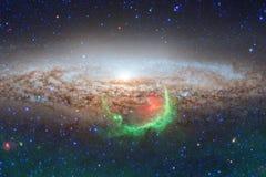 Απίστευτα όμορφος γαλαξίας πολλά ελαφριά έτη μακριά από τη γη στοκ φωτογραφία