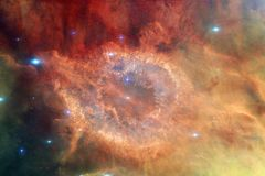 Απίστευτα όμορφος γαλαξίας πολλά ελαφριά έτη μακριά από τη γη στοκ εικόνα