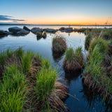 Απίστευτα όμορφο τοπίο στη λίμνη Shartash Ήρεμο πρωί πριν από την αυγή Ρωσία, Ural Στοκ φωτογραφίες με δικαίωμα ελεύθερης χρήσης
