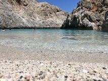 Απίστευτες παραλίες ομορφιάς της Κρήτης Στοκ Φωτογραφία