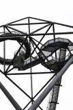 Απίστευτη γκρίζα κατασκευή σημείου άποψης Tetrahedron σε Bottrop, North Rhine-Westphalia, Γερμανία που λαμβάνεται από κάτω από στοκ εικόνα με δικαίωμα ελεύθερης χρήσης
