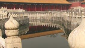 Απαγορευμένα κανάλι και νερό της Κίνας πόλεων απόθεμα βίντεο