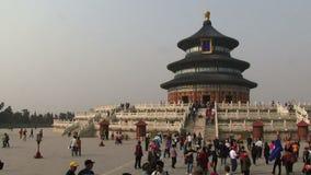 Απαγορευμένα μέρη της Κίνας πόλεων των ανθρώπων στο πρώτο πλάνο απόθεμα βίντεο