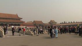Απαγορευμένα πλήθη της Κίνας πόλεων των τουριστών απόθεμα βίντεο
