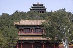 Απαγορευμένα πόλη και πάρκο Jingshan, Πεκίνο Στοκ Εικόνες
