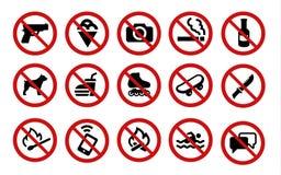 Απαγορευμένα σημάδια Στοκ εικόνα με δικαίωμα ελεύθερης χρήσης