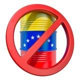 Απαγορευμένη εξαγωγή της της Βενεζουέλας έννοιας πετρελαίου, τρισδιάστατη απόδοση ελεύθερη απεικόνιση δικαιώματος