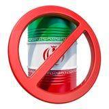 Απαγορευμένη εξαγωγή της ιρανικής έννοιας πετρελαίου, τρισδιάστατη απόδοση διανυσματική απεικόνιση