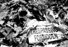 απαγορευμένη καταπάτηση Στοκ φωτογραφίες με δικαίωμα ελεύθερης χρήσης