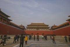 Απαγορευμένη πόλη Κίνα, μια από την ιστορική θέση Στοκ Εικόνες
