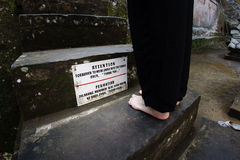 Απαγορευμένος για να φορεθούν τα παπούτσια Στοκ εικόνες με δικαίωμα ελεύθερης χρήσης