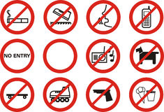 απαγορευμένος Στοκ φωτογραφίες με δικαίωμα ελεύθερης χρήσης
