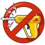 Απαγορευμένο διανυσματικό σημάδι: Κανένα τρυπάνι Στοκ Εικόνες
