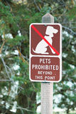 Απαγορευμένο κατοικίδια ζώα σημάδι Στοκ εικόνες με δικαίωμα ελεύθερης χρήσης