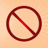 απαγορευμένο σημάδι Στοκ Φωτογραφίες