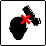 Απαγορευμένο χτύπημα στο κεφάλι διανυσματική απεικόνιση