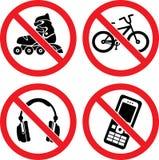 απαγορεύοντας διάνυσμα & Στοκ Εικόνες