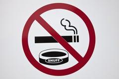 απαγόρευσης του καπνίσματος Στοκ Φωτογραφίες