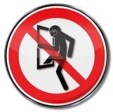 Απαγόρευση για τους διαρρήκτες Στοκ φωτογραφία με δικαίωμα ελεύθερης χρήσης