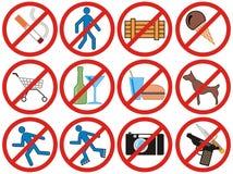 απαγόρευση του διανύσμα ελεύθερη απεικόνιση δικαιώματος