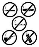 Απαγόρευση του καπνίσματος και καπνός Στοκ Εικόνα