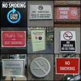 Απαγόρευση του καπνίσματος οπουδήποτε Στοκ φωτογραφίες με δικαίωμα ελεύθερης χρήσης