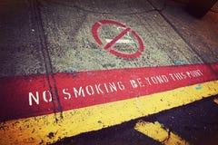 Απαγόρευση του καπνίσματος πέρα από αυτό το σημείο Στοκ Εικόνες