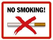 απαγόρευση του καπνίσματος περιοχής διανυσματική απεικόνιση