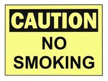 απαγόρευση του καπνίσματος προσοχής Στοκ Φωτογραφία