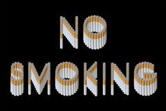 απαγόρευση του καπνίσματος στοκ φωτογραφία
