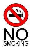 απαγόρευση του καπνίσμα&ta Στοκ εικόνες με δικαίωμα ελεύθερης χρήσης