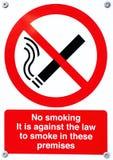απαγόρευση του καπνίσμα&ta Στοκ Εικόνα