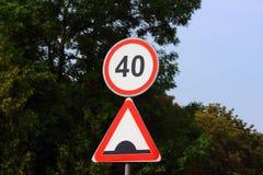 Απαγόρευση του οδικού σημαδιού Στοκ Φωτογραφία