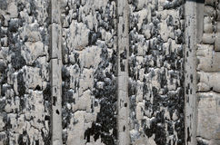Απανθρακωμένος τοίχος Στοκ φωτογραφίες με δικαίωμα ελεύθερης χρήσης