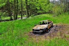Απανθρακωμένο αυτοκίνητο Στοκ Εικόνες