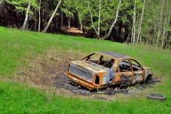 Απανθρακωμένο αυτοκίνητο. Στοκ Εικόνα