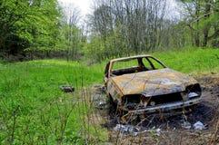 Απανθρακωμένο αυτοκίνητο Στοκ φωτογραφία με δικαίωμα ελεύθερης χρήσης