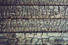 Απανθρακωμένο ξύλινο υπόβαθρο Στοκ Εικόνες