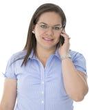 Απαντά σε μια συμπαθητική κλήση Στοκ Φωτογραφία