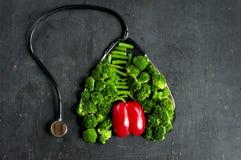 Απαραίτητα λαχανικά για την υγεία πνευμόνων και καρδιών Στοκ φωτογραφίες με δικαίωμα ελεύθερης χρήσης