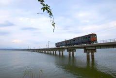 Απαρατήρητο τραίνο της Ταϊλάνδης του lopburi Στοκ Φωτογραφία