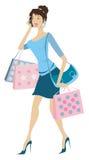 απασχολημένη γυναίκα απεικόνιση αποθεμάτων