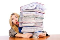 Απασχολημένη γυναίκα στοκ φωτογραφία με δικαίωμα ελεύθερης χρήσης