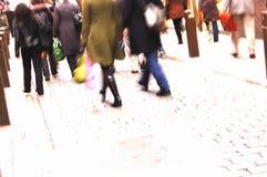 απασχολημένοι αγοραστέ&sigm Στοκ Εικόνες