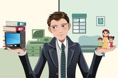 Απασχολημένος επιχειρηματίας απεικόνιση αποθεμάτων