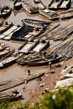απασχολημένος ψαράς Στοκ Εικόνες