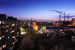 απασχολημένο βράδυ πόλεων Στοκ Εικόνες