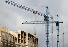 απασχολημένο εργοτάξιο οικοδομής Στοκ εικόνες με δικαίωμα ελεύθερης χρήσης